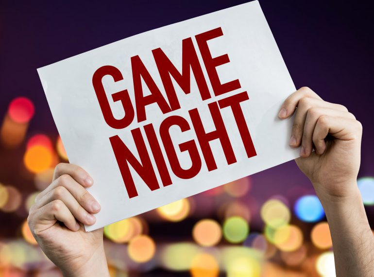 Game Night placard
